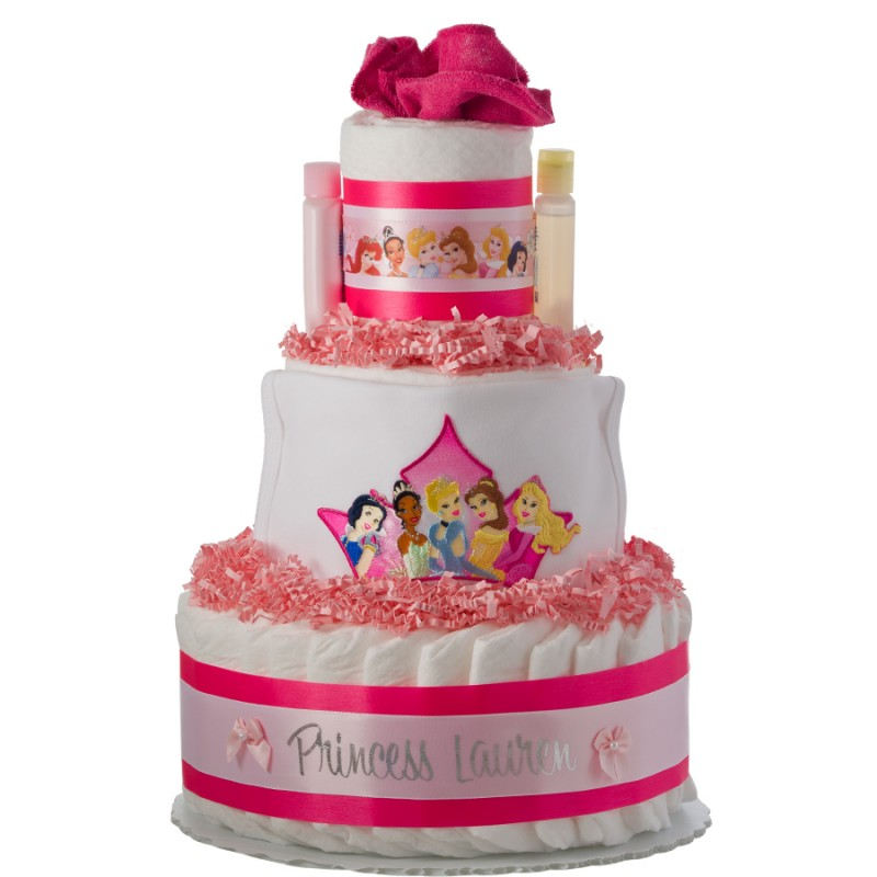 Our Lil' Princess Personalized 3 Tier Diaper Cake
