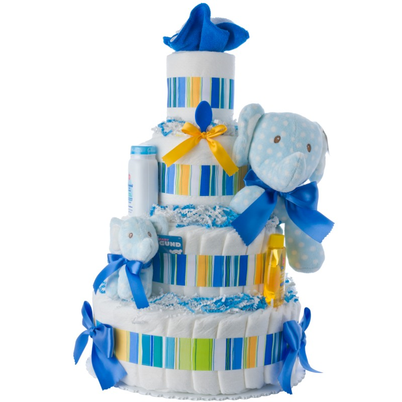 Lolly Elephant Baby Diaper Cake