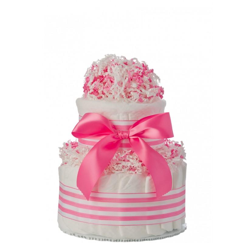 Mini Tickled Pink Diaper Cake
