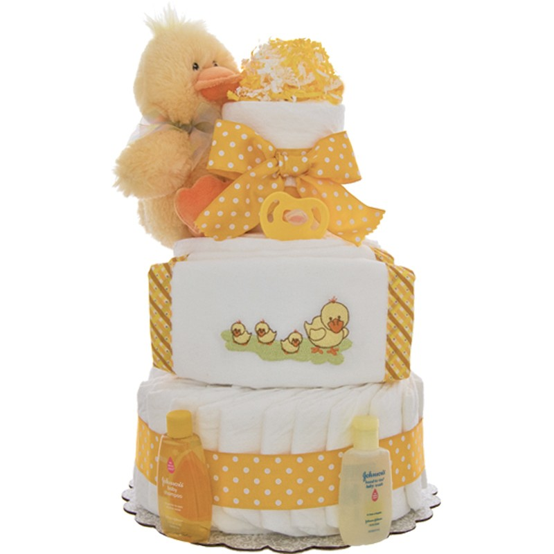 Momma Duck 3 Tier Diaper Cake