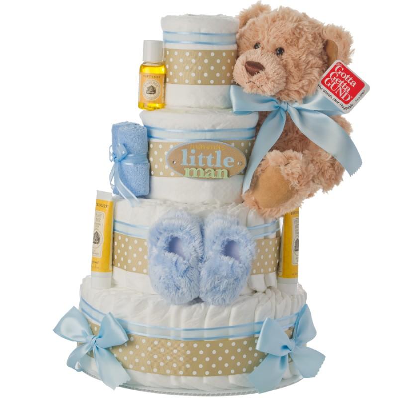 Mommy's Little Man 4 Tier Diaper Cake