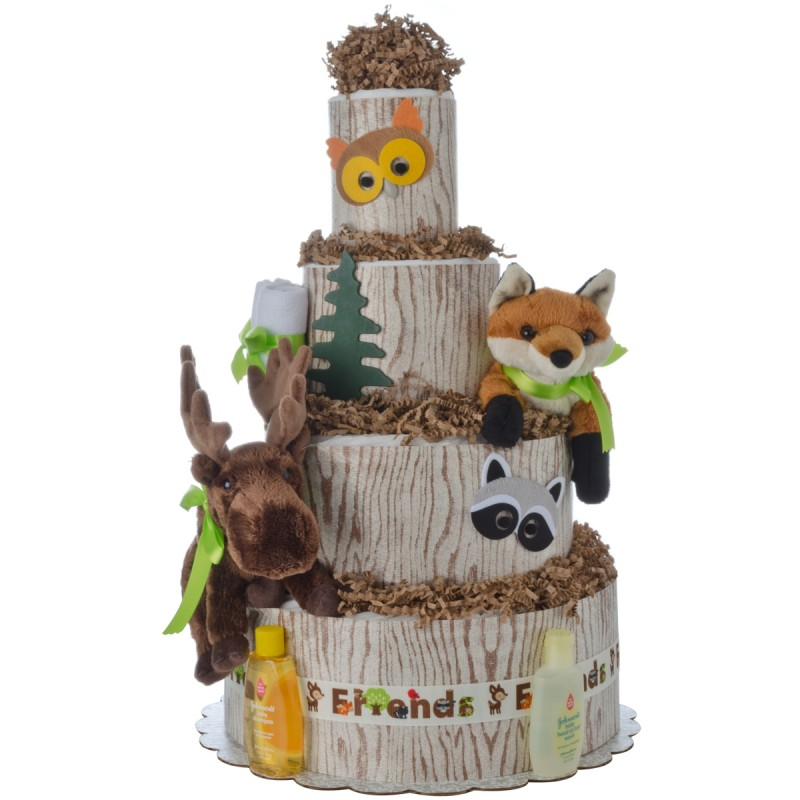 My Forest Friends 4 Tier Diaper Cake