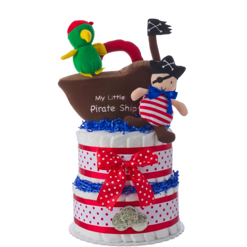 My Lil' Pirate Diaper Cake for Boys