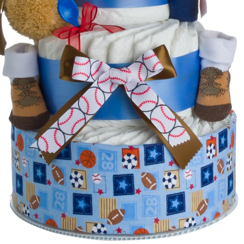 My Lil' Sport Diaper Cake Lower Tier