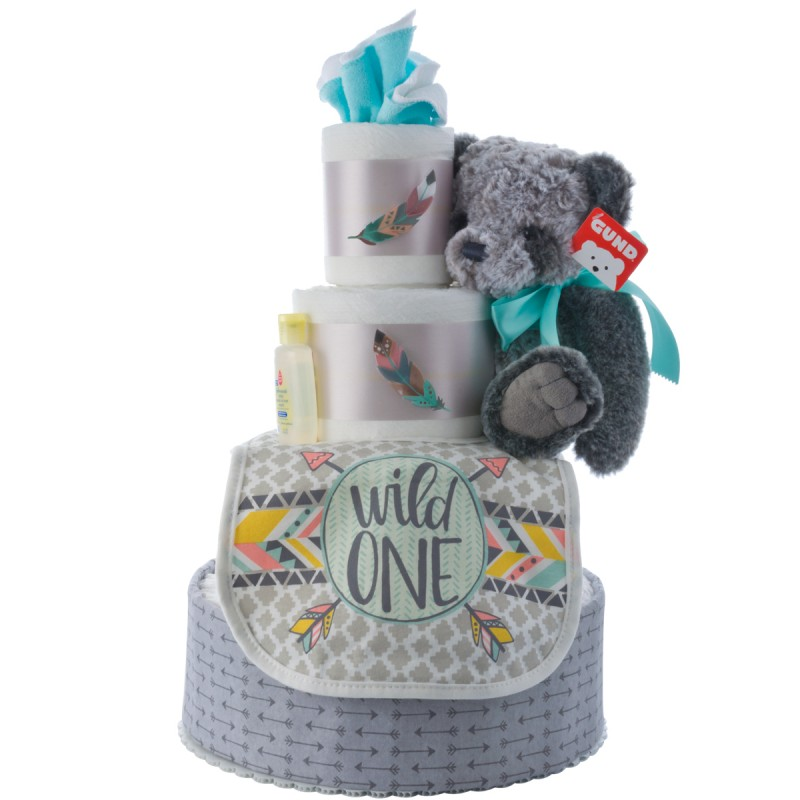 My Lil' Wild One Diaper Cake for Boys