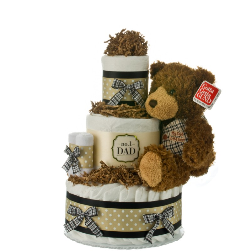 Number 1 Dad Diaper Cake