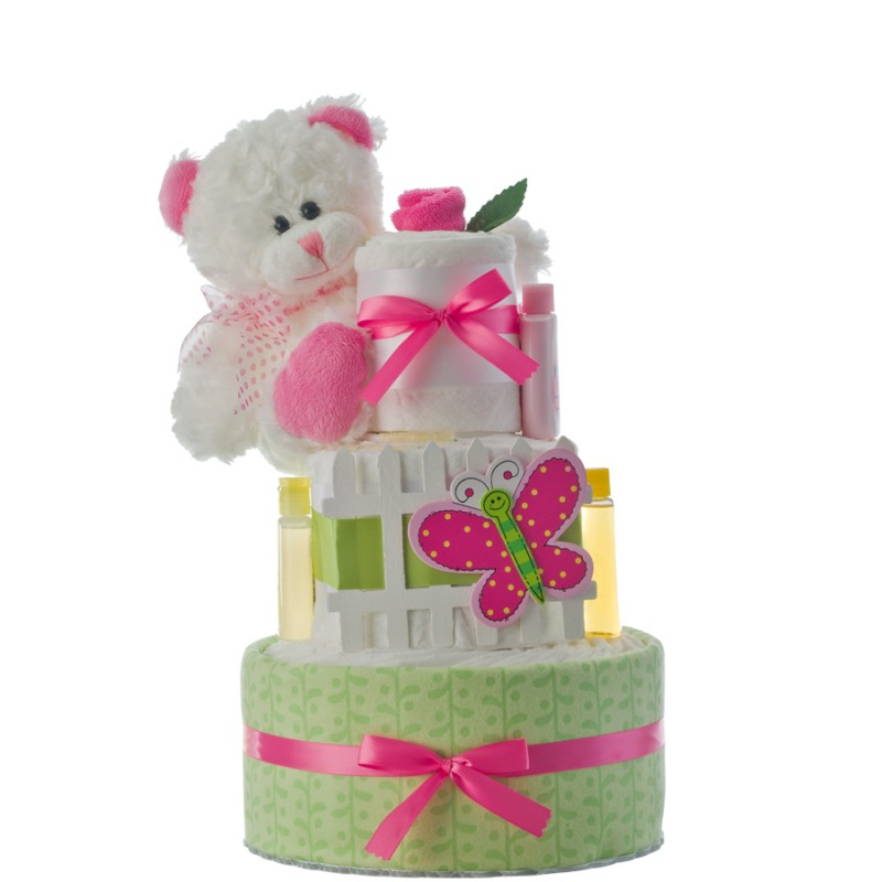 Our Lil' Garden Girl 3 Tier Diaper Cake