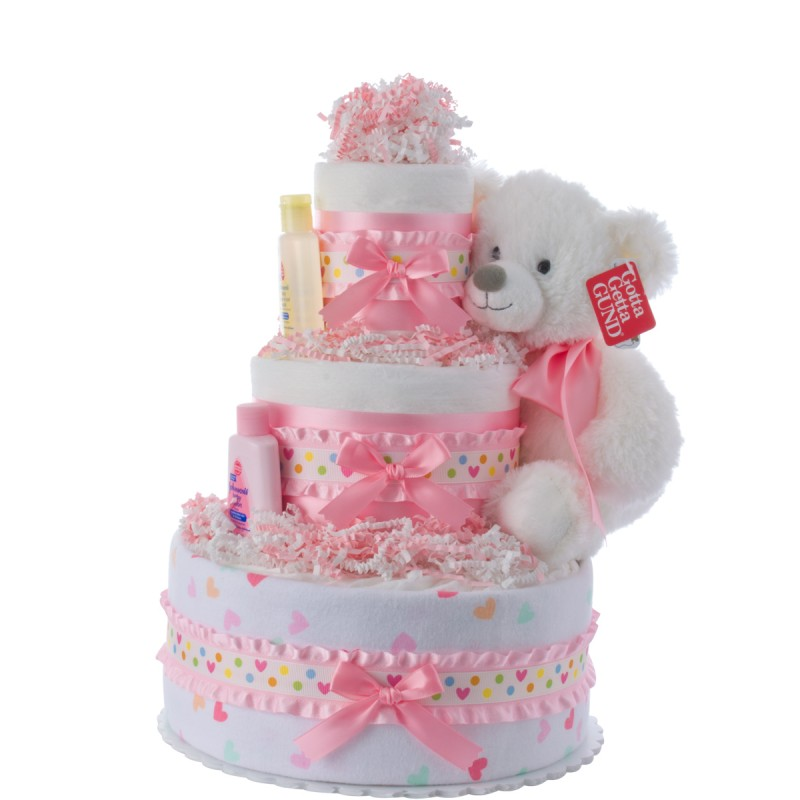 Our Lil' Sweetheart Girls Diaper Cake