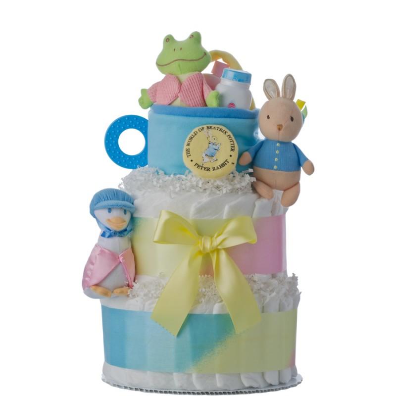 Peter Rabbit 2 Tier Diaper Cake