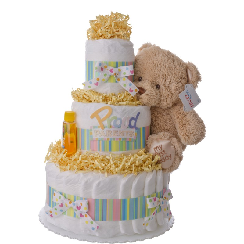 Proud Parents 3 Tier Diaper Cake