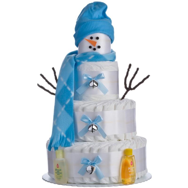 Holiday Snow Boy Diaper Cake