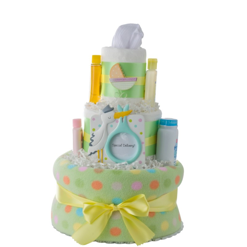 Special Delivery Newborn Diaper Cake by Lil' Baby Cakes
