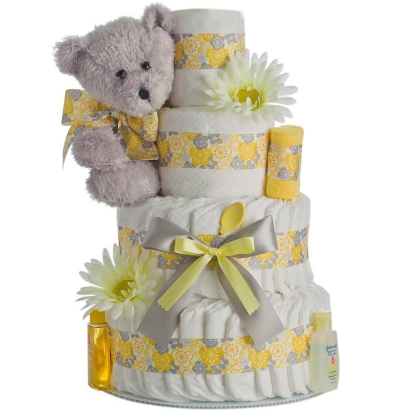 Springtime Bear Diaper Cake