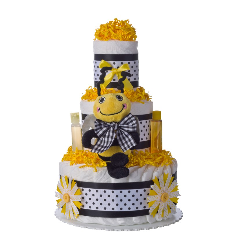 Lil Baby Cakes Sweet Bee 3 Tier Diaper Cake