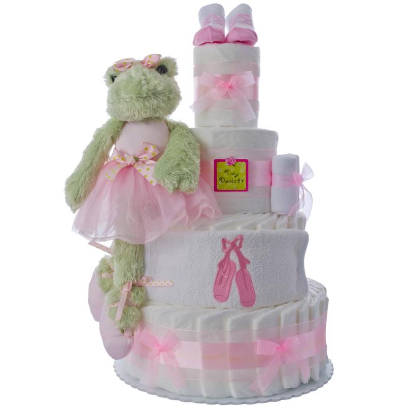 Lil Ballerina 4 Tier Diaper Cake