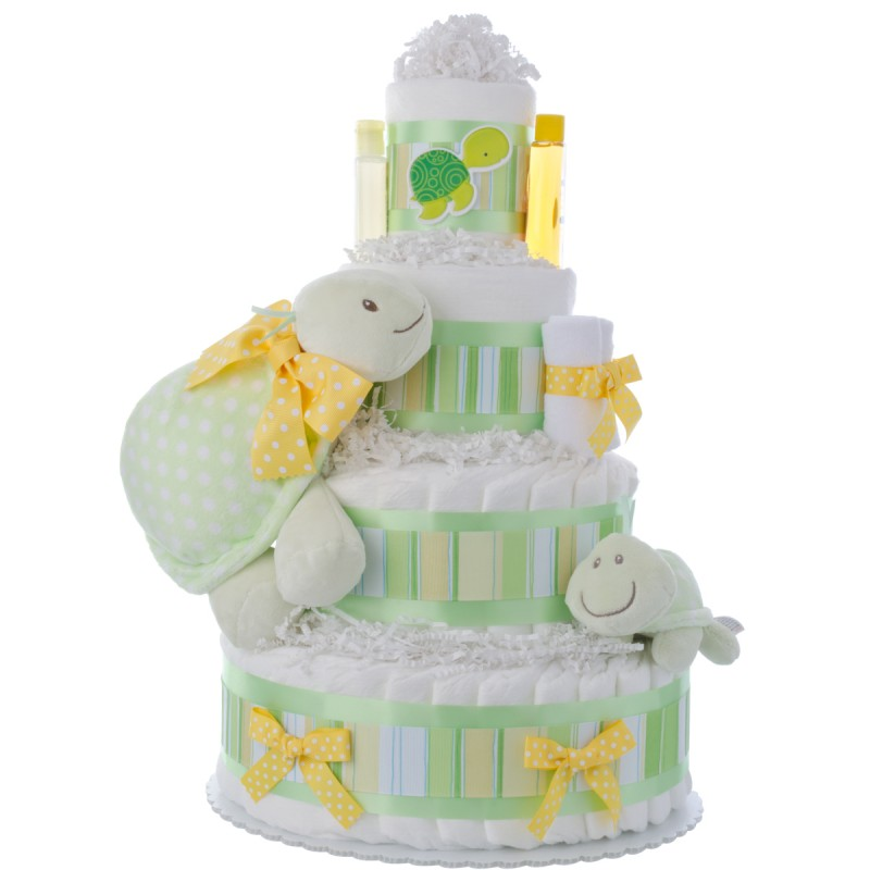 Tubby Turtle Neutral Diaper Cake