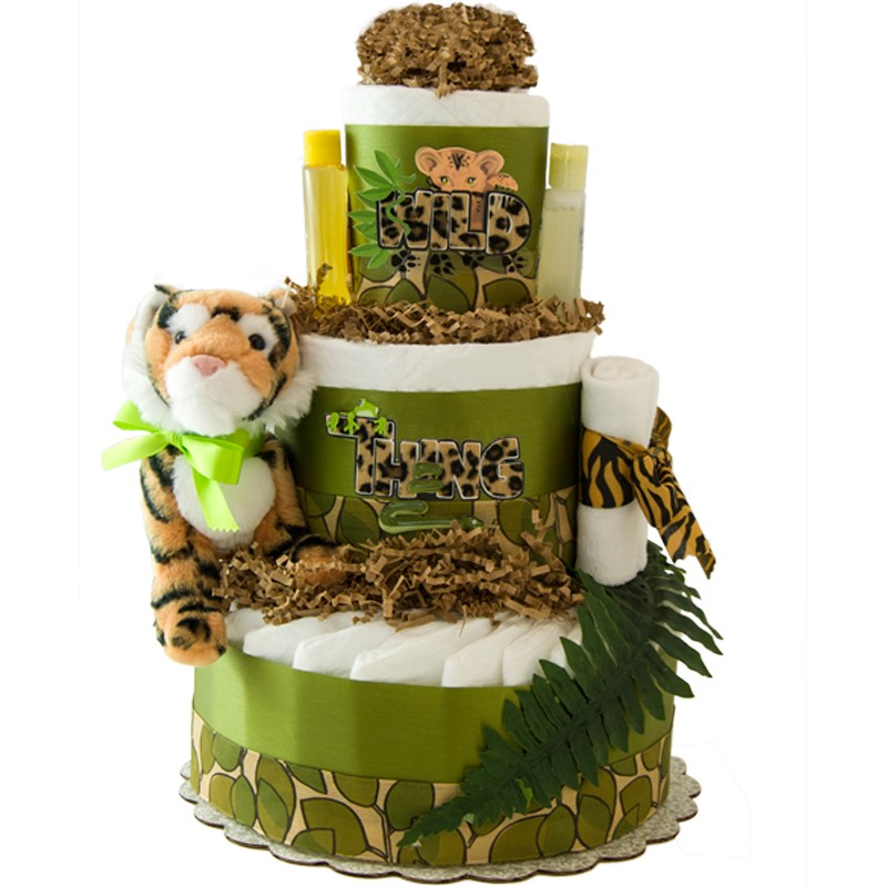Wild Thing 3 Tier Diaper Cake
