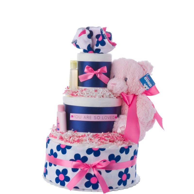 You Are So Loved Girl Diaper Cake