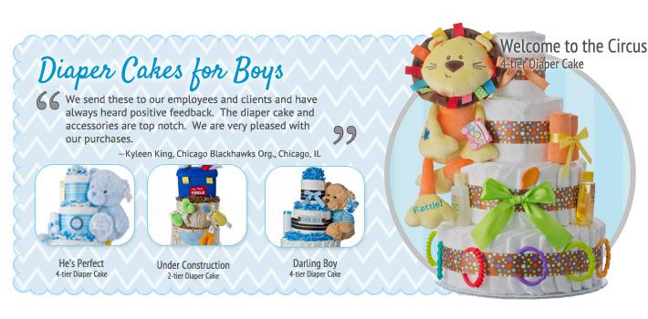 Boys Diaper Cakes