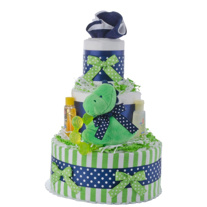 Lil Dino Baby Shower Diaper Cakes Unique Diaper Cake Gifts