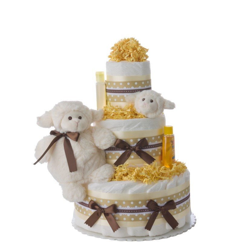 Lil Baby Cakes Lamb Diaper Cake