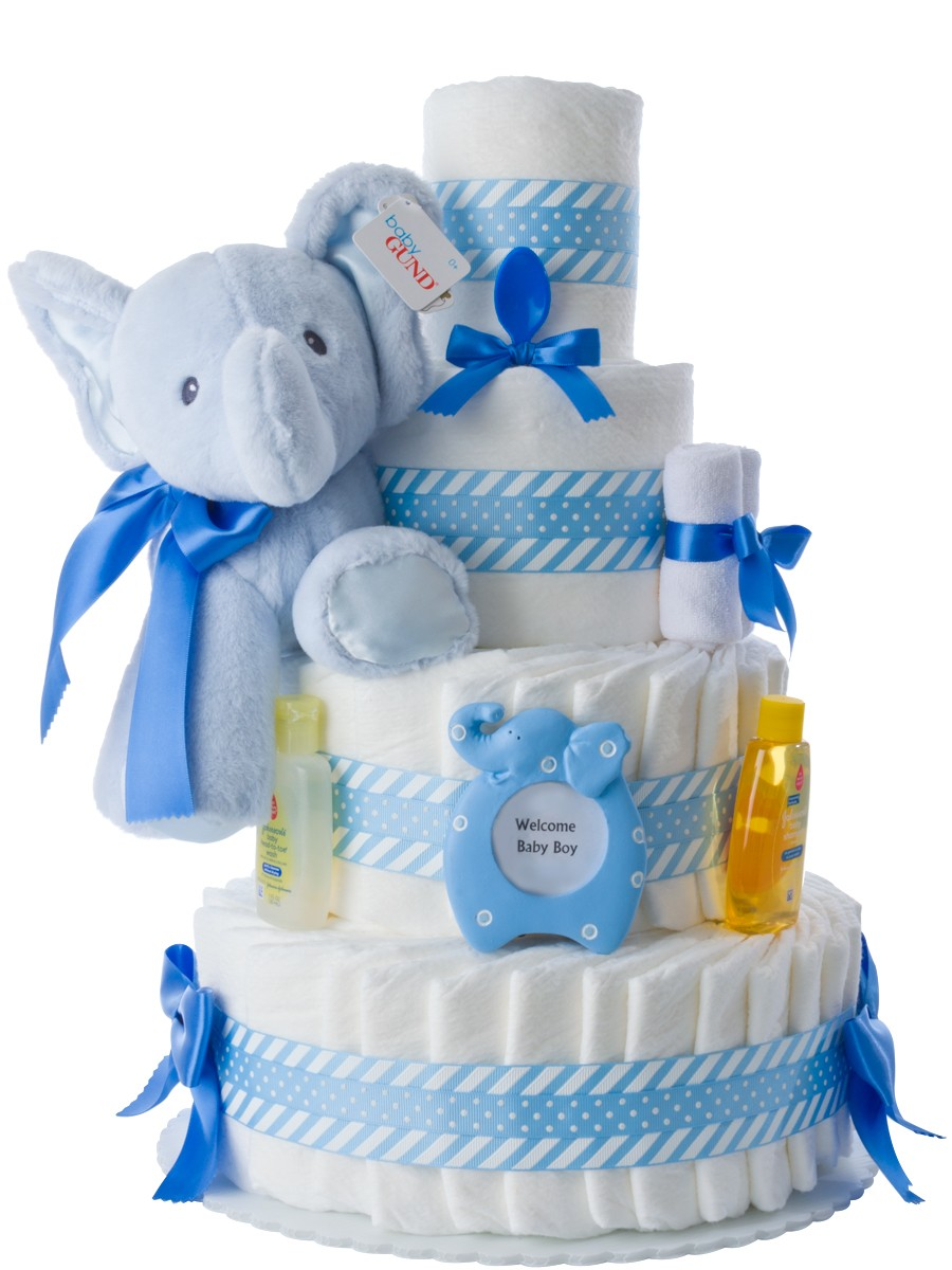 elephant diaper cake blue elephant cake for boys 3878