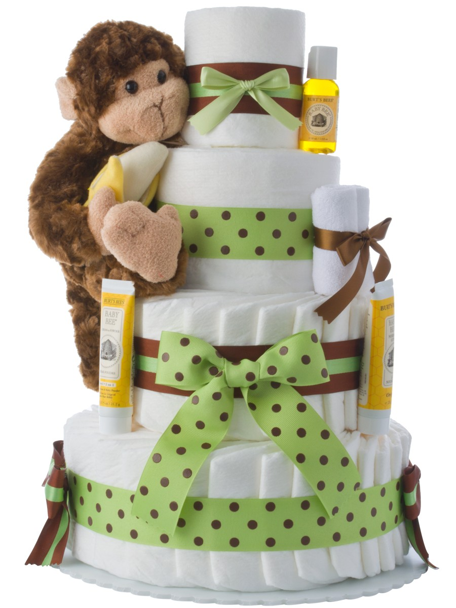 How To Make A Monkey Diaper Cake