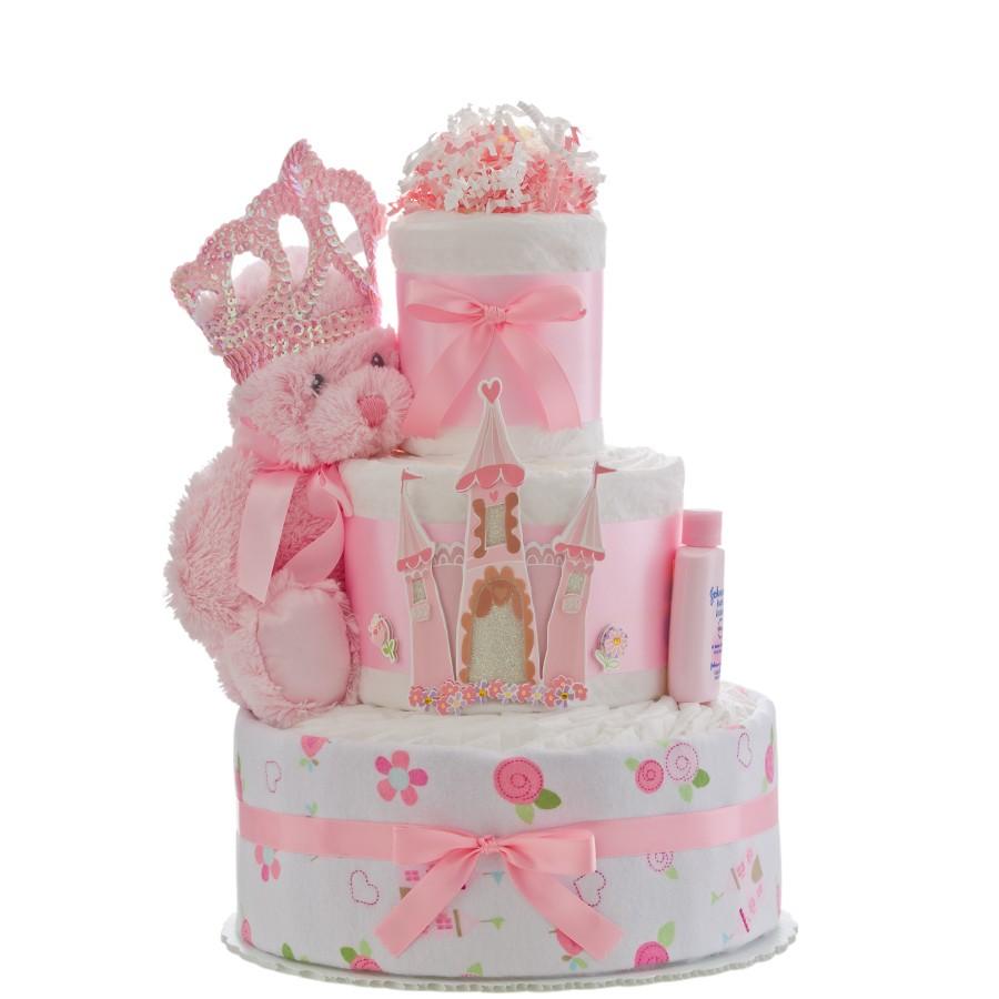 Our Lil Princess Castle Diaper Cake