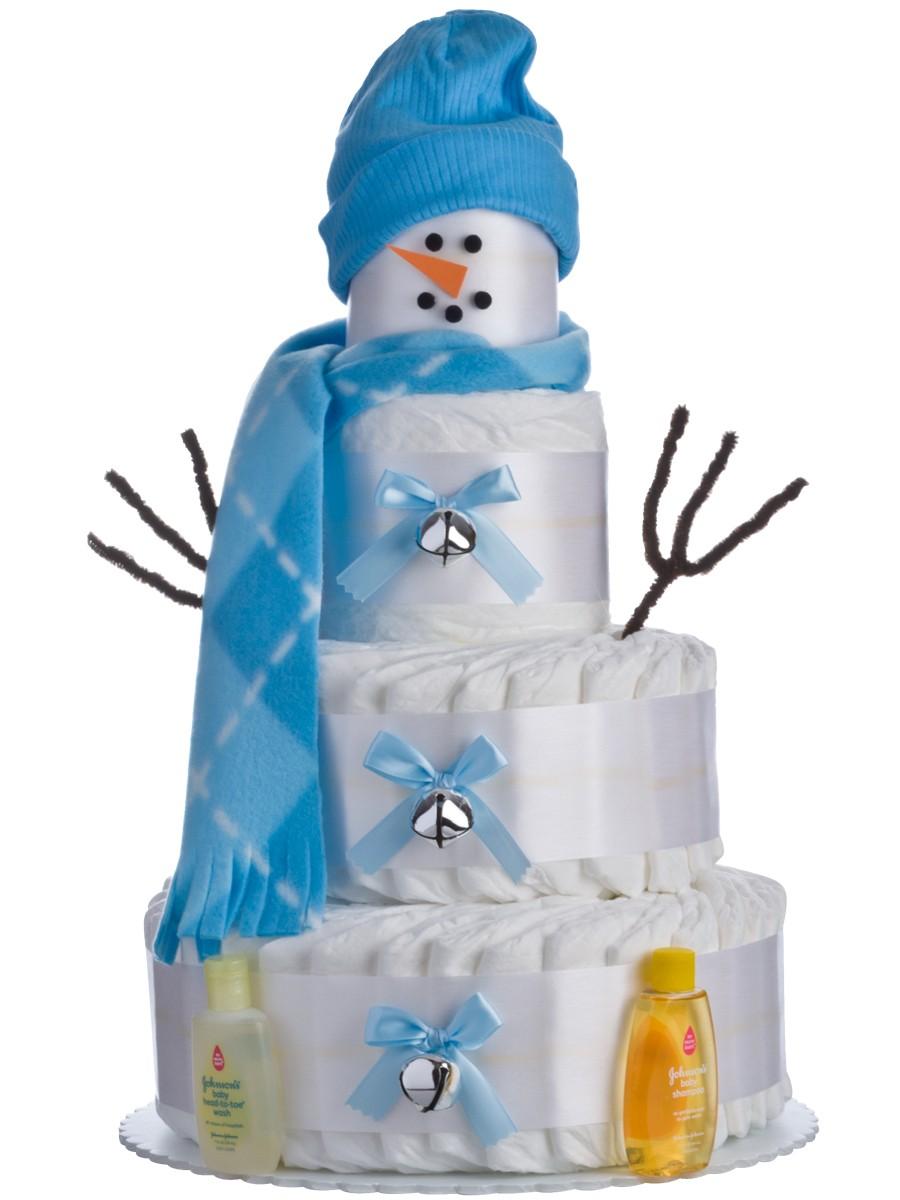 Snowman Diaper Cake Photos