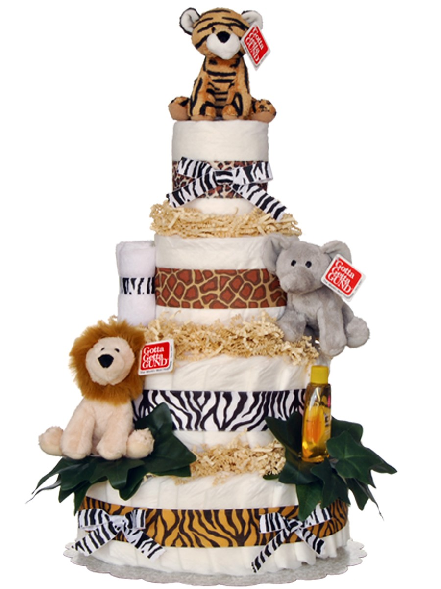 Jungle Theme Diaper Cake Ideas
