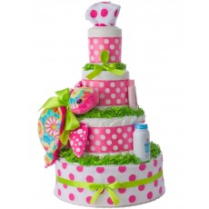 Aloha Turtle Diaper Cake for Girls
