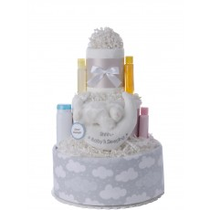 Baby is Sleeping Neutral Diaper Cake