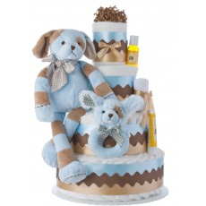 Barker Diaper Cake for Boys
