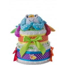 Colorful Crab 2 Tier Diaper Cake
