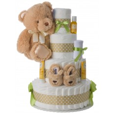 4 Tier Neutral Contemporary Diaper Cake