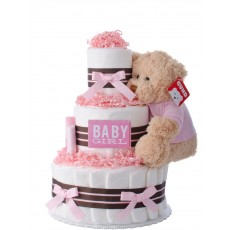 Our Lil' Darling Girl 3 Tier Diaper Cake