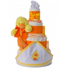 4 Tier Newborn Duck Towel Diaper Cake