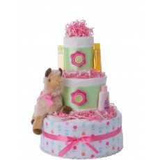 Lena the Llama Diaper Cake for Girls | Lil' Baby Cakes