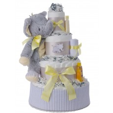 Lil' Peanut Neutral Diaper Cake