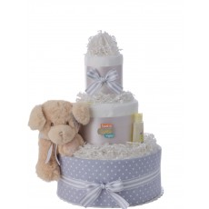 Love at First Sight Baby Diaper Cake by Lil' Baby Cakes