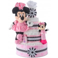 Minnie Mouse Diaper Cake for Girls