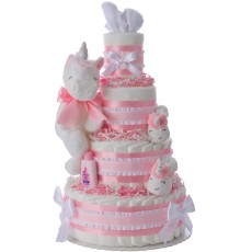 My Lil' Unicorn Diaper Cake for Girls by Lil Baby Cakes