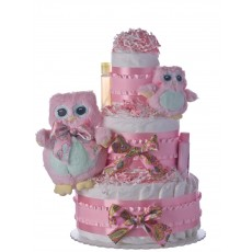 Two Owls Lil Baby Diaper Cake
