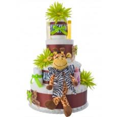 Lil' Baby Cakes Safari Diaper Cake