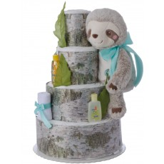 Sammy the Slouth Neutral Diaper Cake by Lil' Baby Cakes