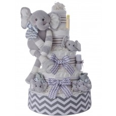 Ultimate Elephant Pampers Cake 5 Tier Neutral