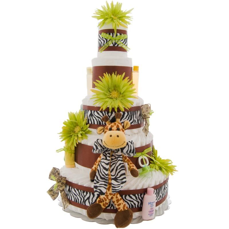 5 Tier Safari Diaper Cake
