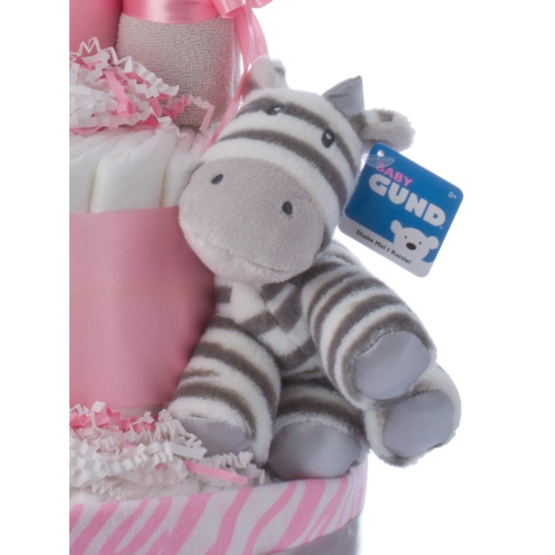 Baby Gund Plush Zebra Rattle