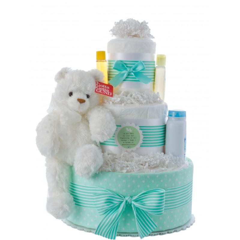 New Beginning Girls Diaper Cake