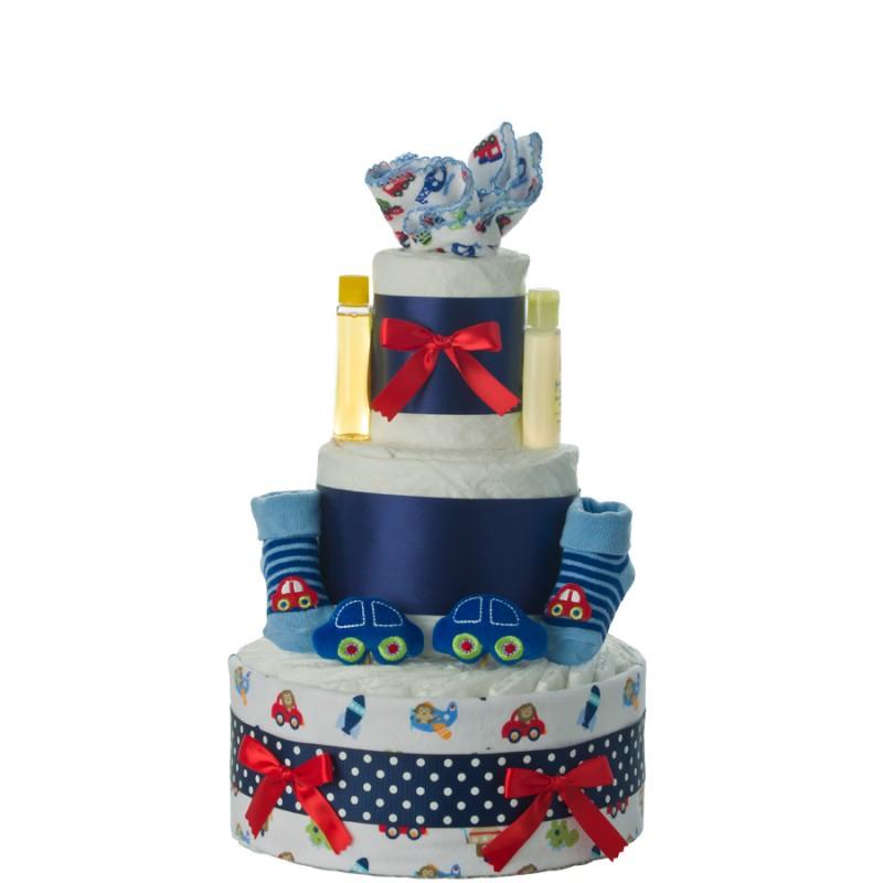 Car Fun 3 Tier Diaper Cake
